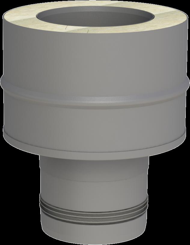Singolo adattatore in acciaio inox - doppia parete (pellet)