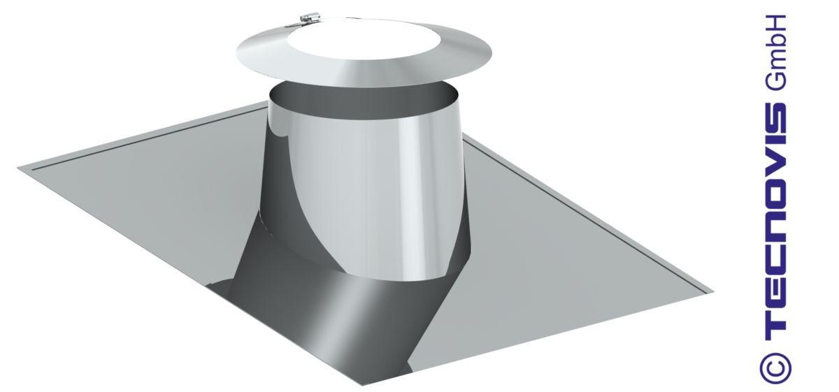 Solin tetto spiovente piatto 6 - 15º - con collare