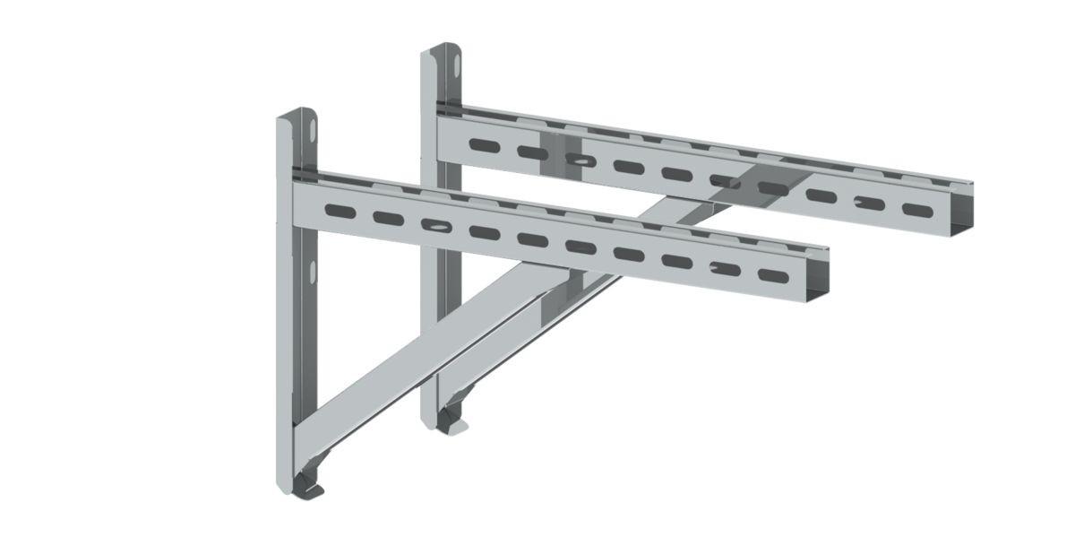 Supporto a parete e traversa di tipo II 500 mm