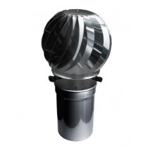 Cappa di ventilazione rotante in acciaio inox